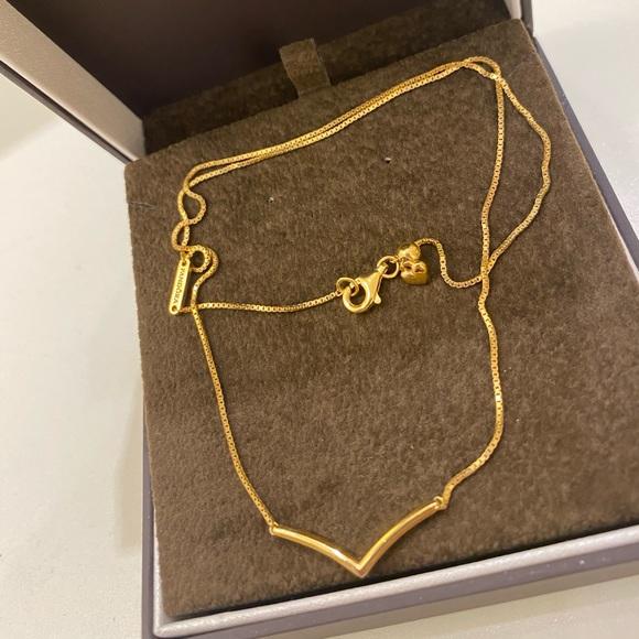 Pandora Shine wishbone necklace